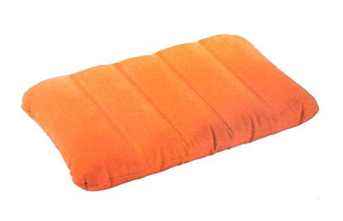 aufblasbares Kissen Reisekissen Strandkissen Campingkissen Kopfkissen Sitzkissen (Orange)