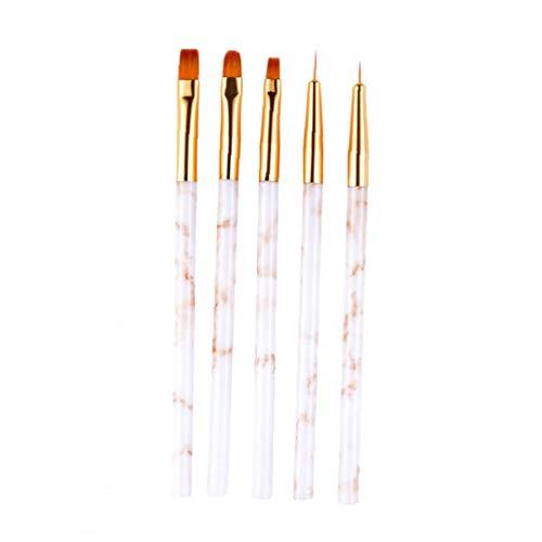 5pcs Nail Art Pen Professional Nail Design Art Peinture Pinceau Dessin pour la peinture Détailler Marbleizing