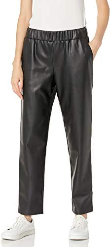 The Drop Women s lisadnyc Faux Leather Pull On Jogger Black S product image
