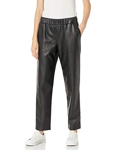 The Drop Women's @lisadnyc Faux Leather Pull-On Jogger