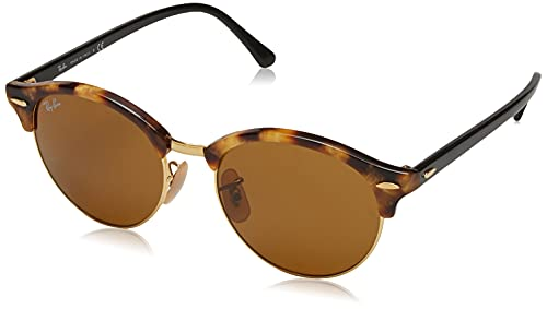 Ray-Ban Clubround Gafas de Sol, Spotted Brown Havana, 51 Unisex-Adulto