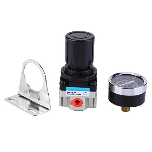 Regulador de presión de aire - AW3000-02 G1/4'Filtro de aire Compresor de fuente Regulador de presión ajustable Válvula de reducción con manómetro
