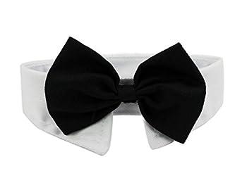 Diyafas 2 x Chien Chat Cravate Formelle Animal de Compagnie Collier en Coton Ajustable Nœud Papillon Bowknot pour Fête Mariage