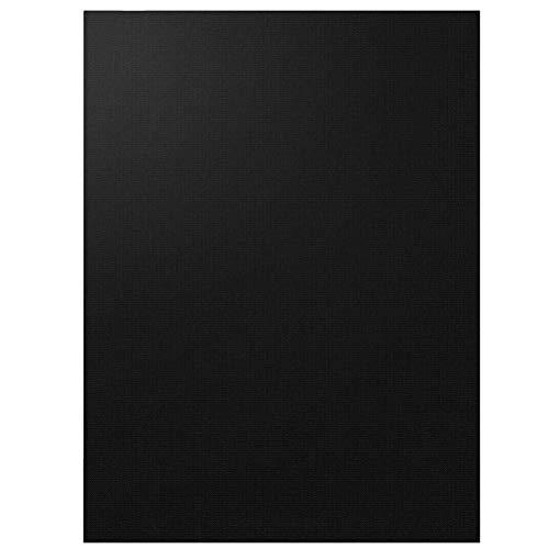 Iwinna Black Portable BBQ Grill Mat, Heat-Resistant Barbecue Mat, Baking Mesh Non-Stick Oven Liners Cooking Reusable Electric Grill Sheets 40 * 50cm(Black(2pcs))