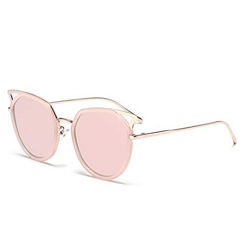 MIMIOOORE Marco de la Flor Llena los Ojos de Gato Gafas de Sol de protección UV for Exterior de conducción (Color : Pink)