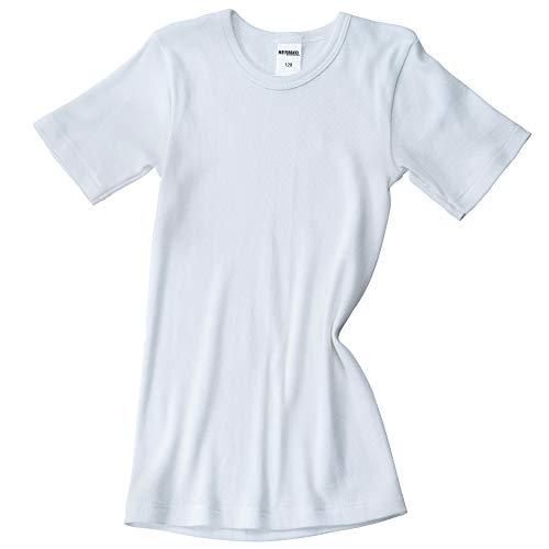 HERMKO 2810 3er Pack Kinder kurzarm Unterhemd für Mädchen + Jungen , Farbe:weiß;Größe:116