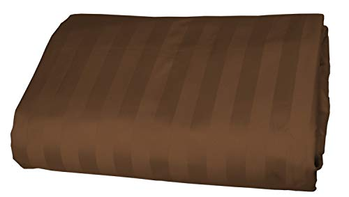 American Pillowcase 100% Egyptian Cotton Luxury Striped 540 Thread Count Fitted Sheet - Queen, Chocolate