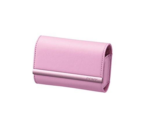 Sony LCSTWJP Tasche im Lederlook für Cyber-shot Serien W und T in Pink