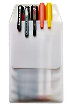 6Pcs White Pocket Protector for School Hospital Office Shirt Lab Coats Pens Leaks