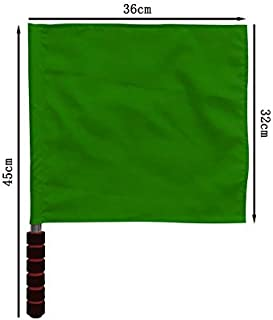 Galapara 1 pcs Referee Flag Signal Flag Issued by The Flag Square Traffic Command Flag Stainless Steel Flagpole Warning Flag PVC+ Flag