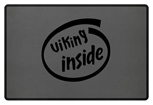 generisch Viking Inside   Wikinger - Fußmatte -60x40cm-Mausgrau