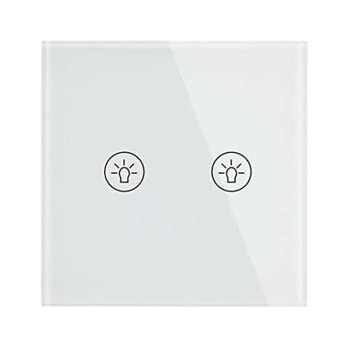 Interruptor táctil de pared para el hogar inteligente Enchufe europeo/Reino Unido y UE Interruptores USB dobles Cristal de cristal 1 2 3 Gang 1 Way 2 Gang Switch