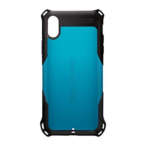 エレコム iPhone XR ケース 衝撃吸収 ZEROSHOCK スタンダード  【落下時の衝撃から本体を守る】 ブルー PM-...