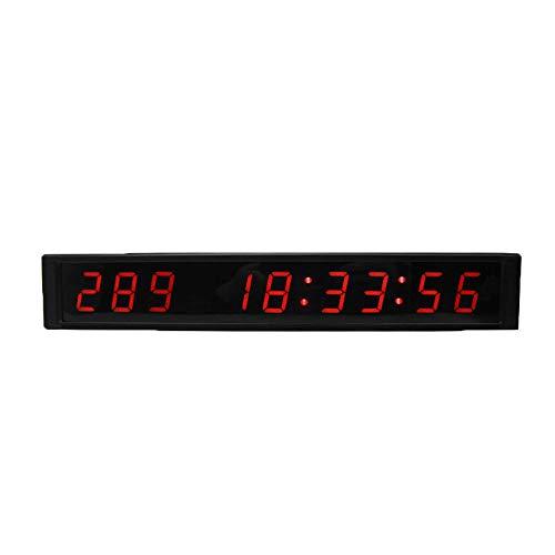Chyuanhua Countdown Uhr An der Wand befestigter großer Krankenhaus-Timer-Multifunktionsbüro-Echtzeituhr-1 Zoll-Eignungs-Trainings-Timer-Countdown/Timer mit Fernbedienung Digital Timer Wanduhr