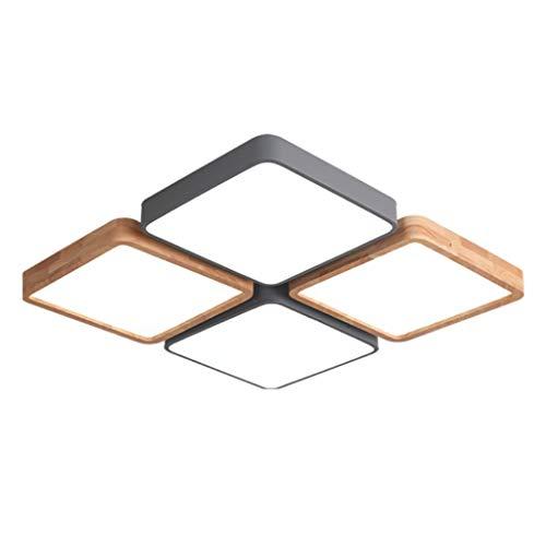 Iluminación de techo de interior Simple Moderno Cuadrado LED Combinación Dormitorio principal Hogar Lobby Techo Gris Claro Luz de techo empotrada