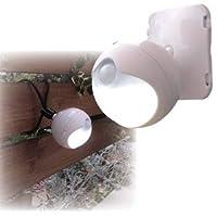 防雨LEDセンサーライト モード切替/単3乾電池式 連続点灯約70時間 (玄関/屋内/室外) ds-1387221