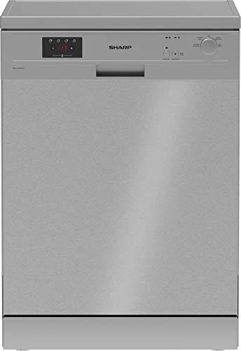 Sharp QW-GX13F47EI-DE Freistehender Geschirrspüler / 60 cm / E / 13 Maßgedecke / 4 Programme mit 30 min. Kurzprogramm / Edelstahl