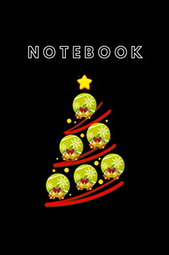 NoteBook: Tennis Christmas Tree Notebook Tennis Christmas Ornaments Tree Funny Xmas College Ruled Lined Pages Book. Notebook Cover 6x9 ... plans or keep track of things Cute Notebook.