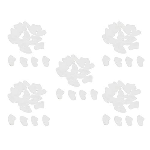 100 Stück Haustier Nagelkappen Krallenkappen Krallenschutz Fingernägel Abdeckung für Hund Katze - Klar, S