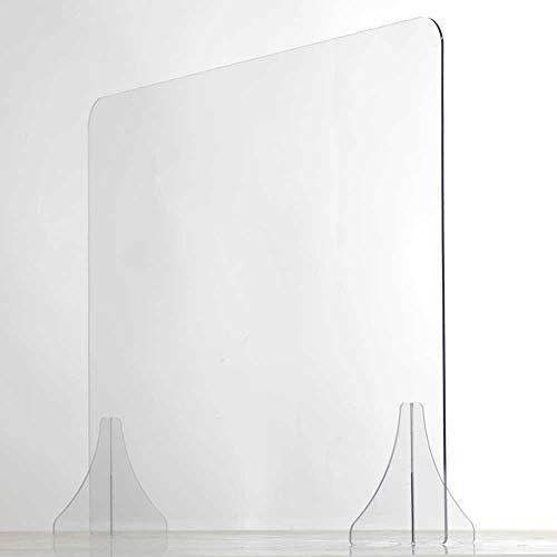 Écran de Protection - plexiglas pour bureaux - protection plexiglass de haute qualité - cloison de separation en plaque de plexiglass transparent (120x75 cm)