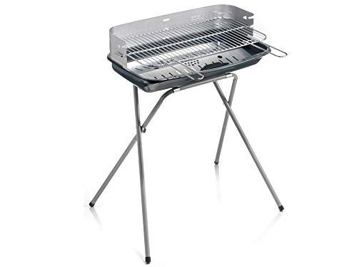 Ompagrill 60400ECOL Barbecue Carbone, Alluminio