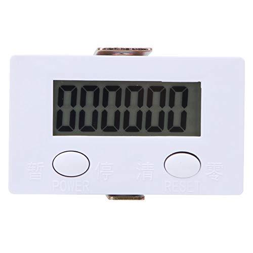 Pantalla LCD Contador de conteo electrónico Contador digital de 6 dígitos con función de pausa clara