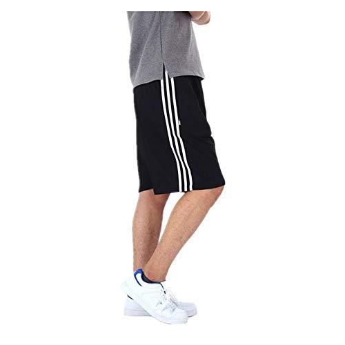 N\P Pantalones cortos casuales de los hombres de fútbol baloncesto correr fitness deportes pantalones cortos de gran tamaño suelto - - 3X