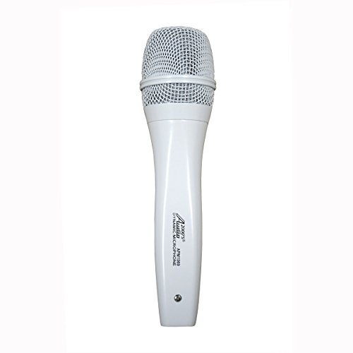 Audio 2000s APM1069 Dynamic Vocal White Microphone Without On/Off Switch