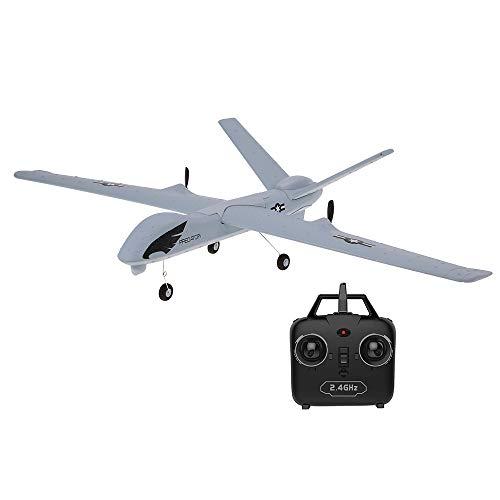 Goolsky Z51 2.4G 2CH Predator Remote Control RC Airplane 660mm Wingspan Foam Hand Throwing Glider Drone Kit de Bricolaje para niños Principiantes