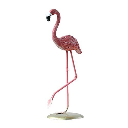 LOVIVER Statue De Flamant Décoratif Animal Sauvage Collection Polyresin Jardin Sculpture Figurine Stands 20cm Grand - A