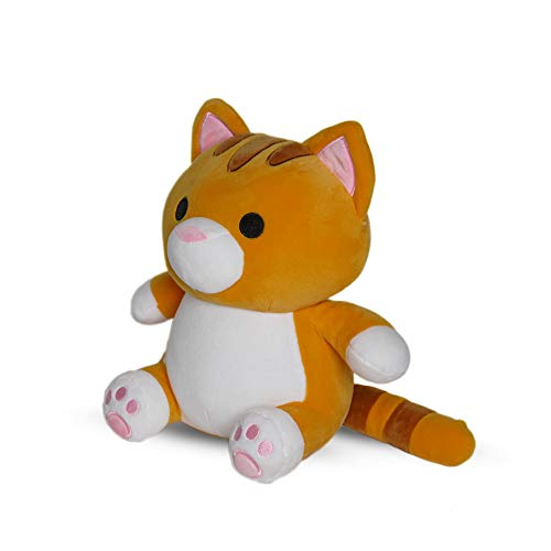 Avocatt Orange Cat Plush Toy - 10 Inches Plushie Stuffed Animal - Hug and Cuddle with Squishy Soft Fabric and Stuffing - Cute Cat Gift for Boys and Girls