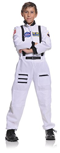 Underwraps Children's Astronaut Costume - White, Large (10-12)
