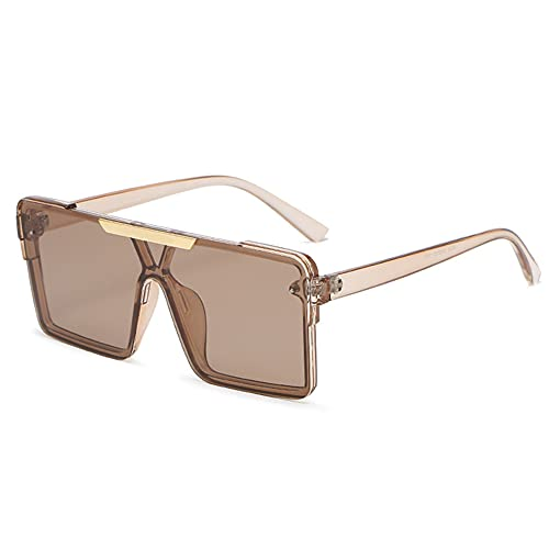 TTWLJJ Gafas de Sol polarizadas Hombre Mujere Retro/Aire Libre Deportes Golf Ciclismo Pesca Senderismo protección UVA Gafas Unisex Golf conducción Gafas Gafas de Sol,Marrón
