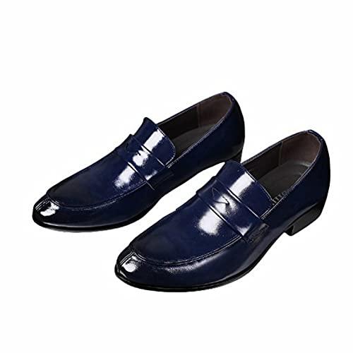 Mocasines de Vestir para Hombre Impermeables Antideslizantes de Color sólido Puntiagudos Zapatos...