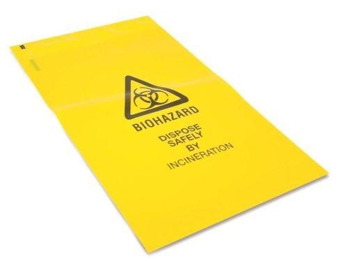 Body Fluid (Biohazard) -Entsorgungstüten - 50 Stück (20cm x 30.5cm)