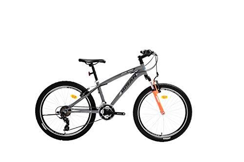 T&Y Trade 24 Zoll Kinder Jungen Mädchen Jugend MTB Fahrrad Kinderfahrrad Mountainbike Jugendfahrrad 21 Gang Shimano Bike Rad Gabelfederung Federgabel 4600 V Grau Schwarz