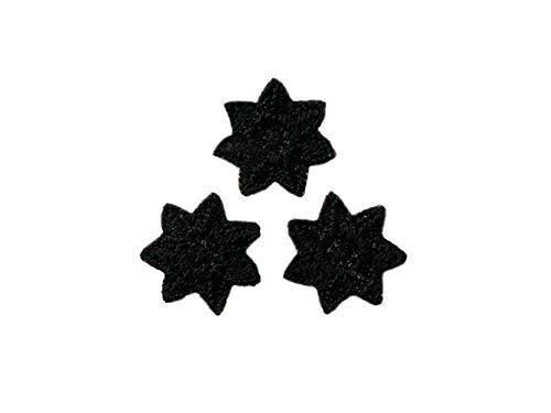 Applikationen - Kids and Hits - aufbügelbar 3 Sternchen ca. 1,0x1,0 cm schwarz 3 St