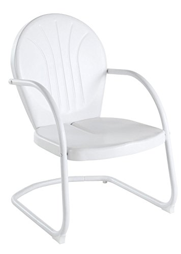 Crosley Furniture Griffith Metal Outdoor Chair - White