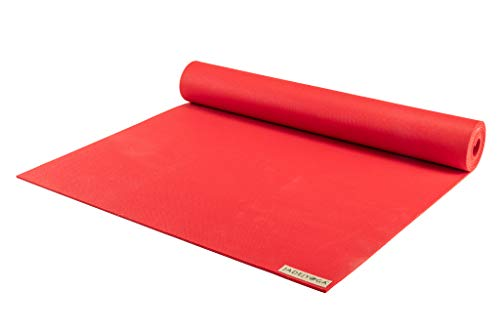 JADE YOGA - Harmony Yoga Mat (3/16 Thick x 24 Wide) (Fire Engine Red, 68)