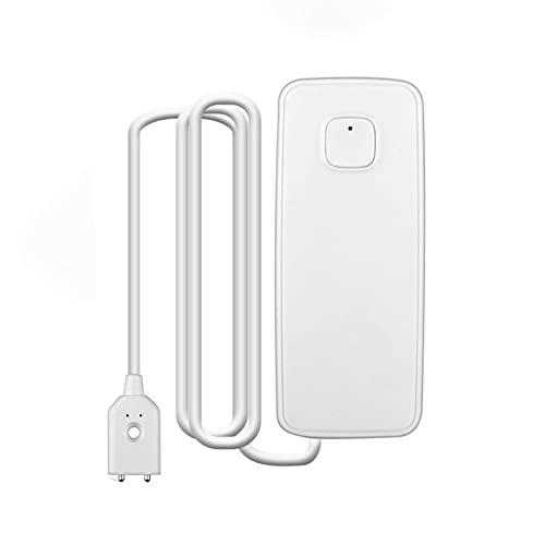 FENGCHUANG Sensor de agua WiFi Tuya, detector de fugas de agua inteligente, monitoreo remoto de aplicación, compatible con Alexa y Google Assistant, para el hogar, cocina, sótano
