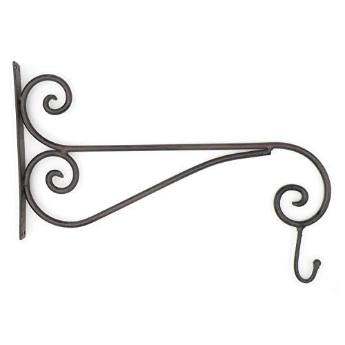 ExtraGreen Wandhaken im Antik-Look aus Eisen mit Aufhängehaken 31,5 x 40,0 2,5 cm