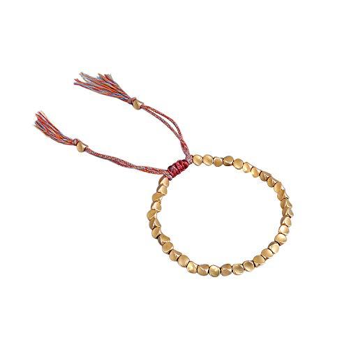 Tibetan copper beads bracelet for men and women,buddhist good luck bracelet,Used to prevent arthritis