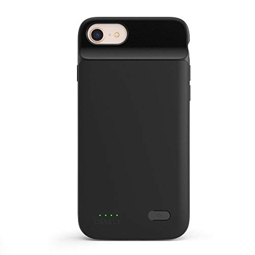 Casely Power 2.0 iPhone Case - Black Rubber iPhone 6/7/8/SE (2020) Phone Casing - Full-Body Protection Case - Heavy-Duty Shockproof Dual Layer Hard Shell - Anti-Scratch Flexible Bumper
