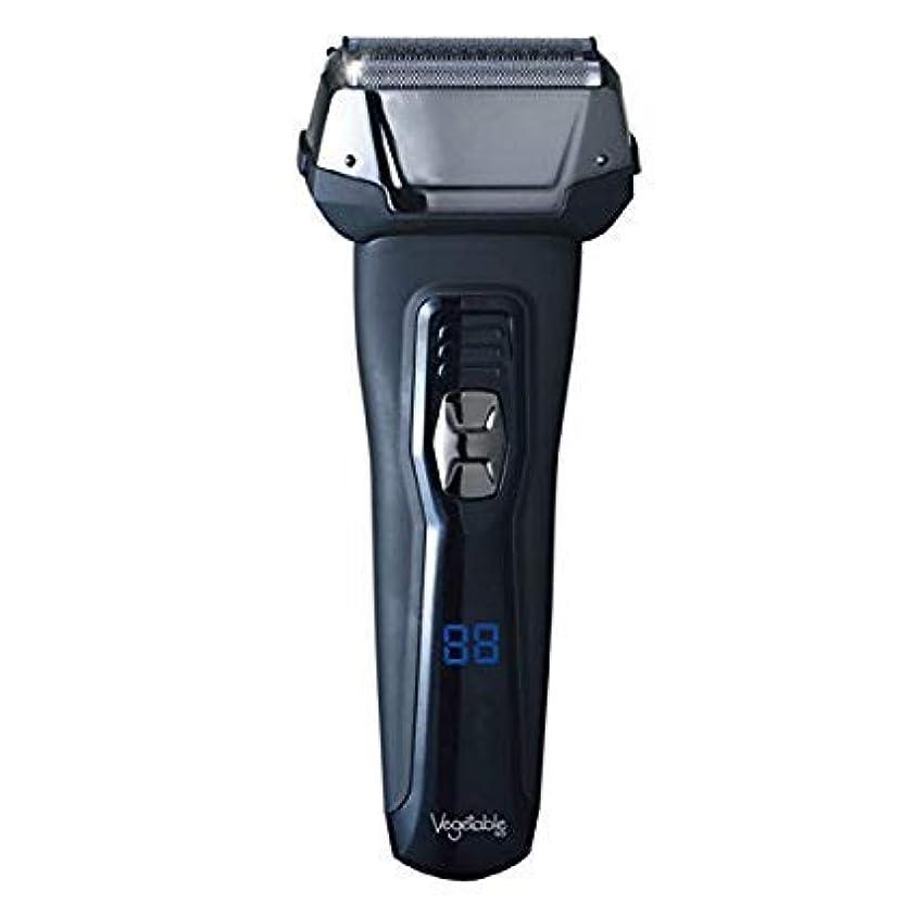 ブリークロック解除硬い髭剃り 電気シェーバー Vegetable 3枚刃 充電交流式ウォッシャブルデジタルシェーバー GD-S307D