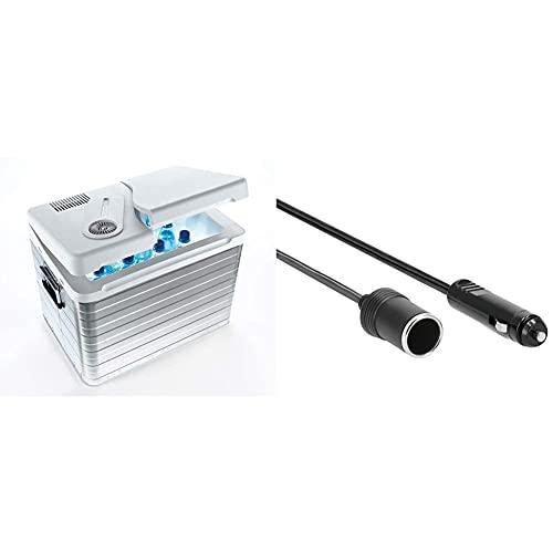 Mobicool Q40 AC/DC - Tragbare Elektrische Alu-Kühlbox, 39 Liter, 12 V und 230 V & Hama Kfz-Verlängerungskabel für Zigarettenanzünder 1,5m [Frustfreie Verpackung]