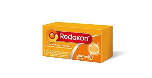 Redoxon Vitamina C 1000 mg, Ayuda al Sistema Inmunitario y Absorción del Hierro, Efecto Antioxidante, Sabor Naranja, 30 Comprimidos Efervescentes