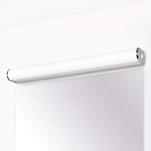 Lampara Baño Aplique de Pared LED 15W 60CM IP44 con Interruptor para Espejo de Baño Cocina Habitacion Alto Brillo 1200Lm Luz Natural 4000K No Regulable Lot de 1 de Enuotek