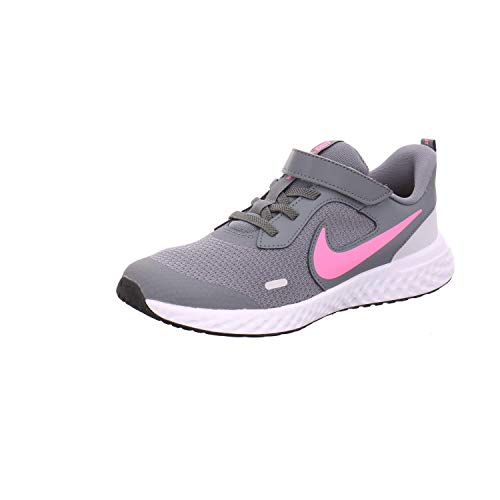 Nike Revolution 5 (PSV), Scarpe da Corsa, Smoke Grey/Pink Glow-Photon Dust-White, 28 EU