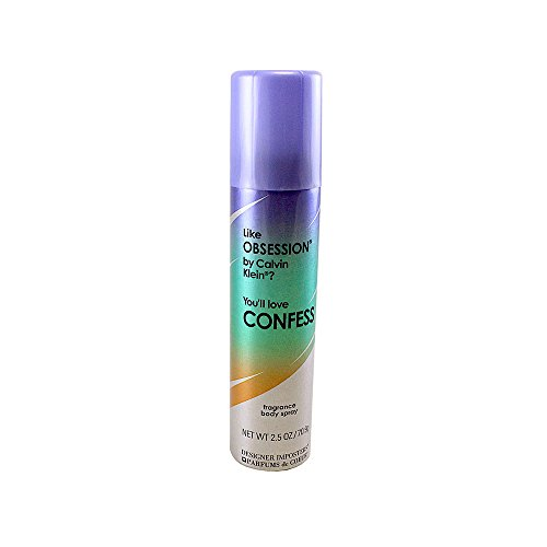 Parfums De Coeur Confess Fragrance Deodorant Body Spray 2.5 Oz / 75 Ml For Women, 3.04 Ounce by Parfums de Coeur