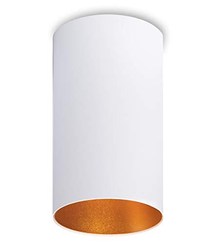 CALYPSO masywna lampa natynkowa, okrągła (matowo-biała/złota), 20 W, LED, ciepła biel, 1800 lm, 230 V, reflektor do zabudowy z aluminium